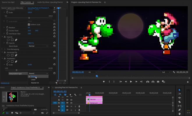 Vizual PixelPerfect (Pixel Art Upscaler) for Premiere Pro Screenshot by Autokroma