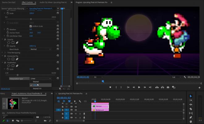 Vizual PixelPerfect (Pixel Art Upscaler) for Premiere Pro Screenshot 2 by Autokroma