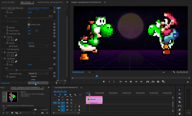 Vizual PixelPerfect (Pixel Art Upscaler) for Premiere Pro Screenshot 3 by Autokroma