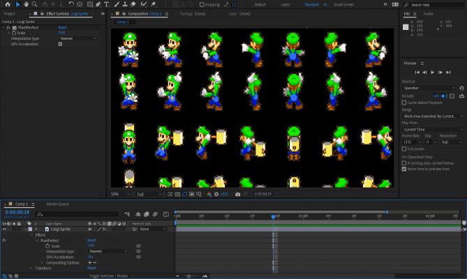 Vizual PixelPerfect (Pixel Art Upscaler) for After Effects Screenshot by Autokroma