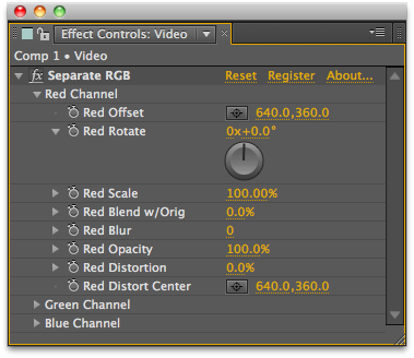 Separate RGB UI