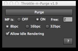 Throttle-n-Purge UI