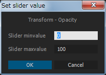 Click * button to set slider values