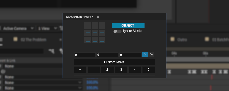 A partial view of the Move Anchor Point interface