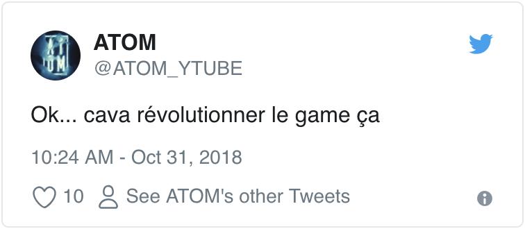 ATOM Tweet