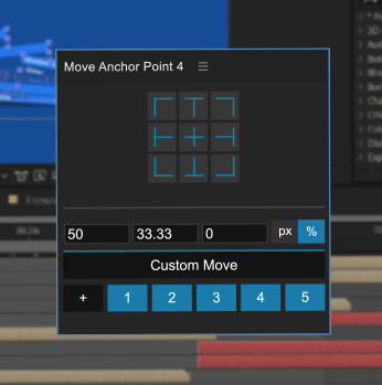 The Move Anchor Point interface showing the custom move section