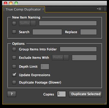 True Comp Duplicator UI