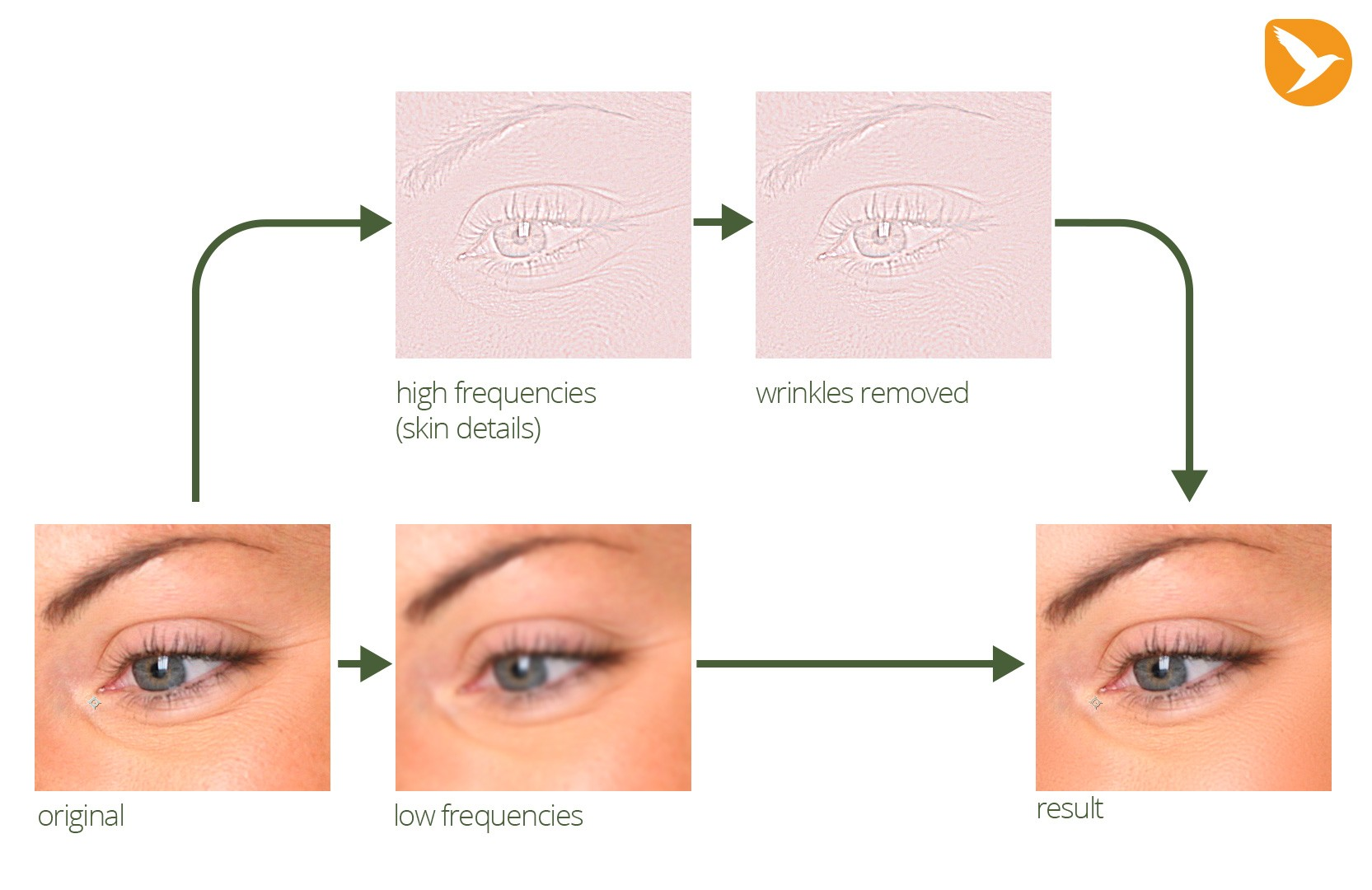 wrinkle remove workflow
