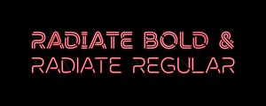 Radiate - Animated Typeface