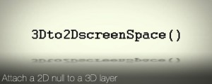 3D to 2D ScreenSpace