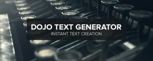 Dojo Text Generator Banner