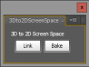 3D to 2D ScreenSpace UI