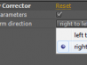 Geometry Corrector User Interface