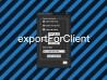exportForClient demo