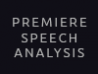 Premiere Pro Speech Analysis