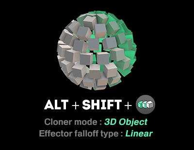 CLONER in 3D object mode