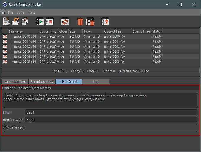 Batch Processor. Custom User Scripts with GUI