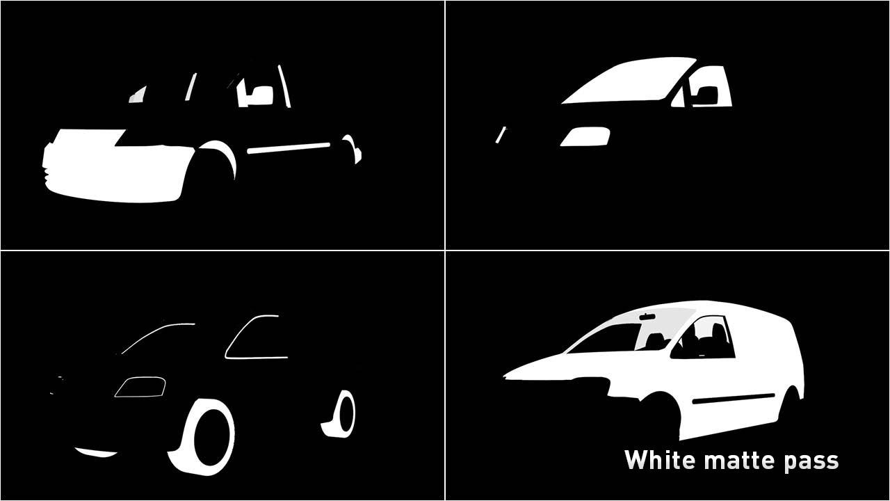 White matte pass