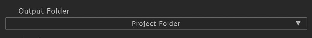 Output Folder Dropdown Image