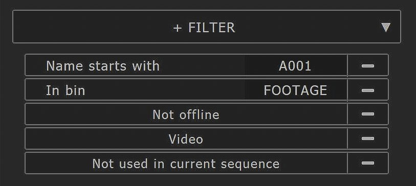 Sample Filters Image