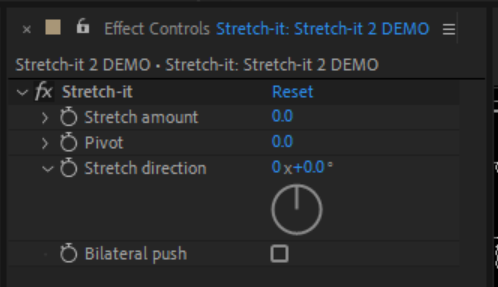 Stretch-it 2 fx controls panel