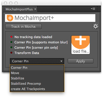 MochaImport+ User Interface