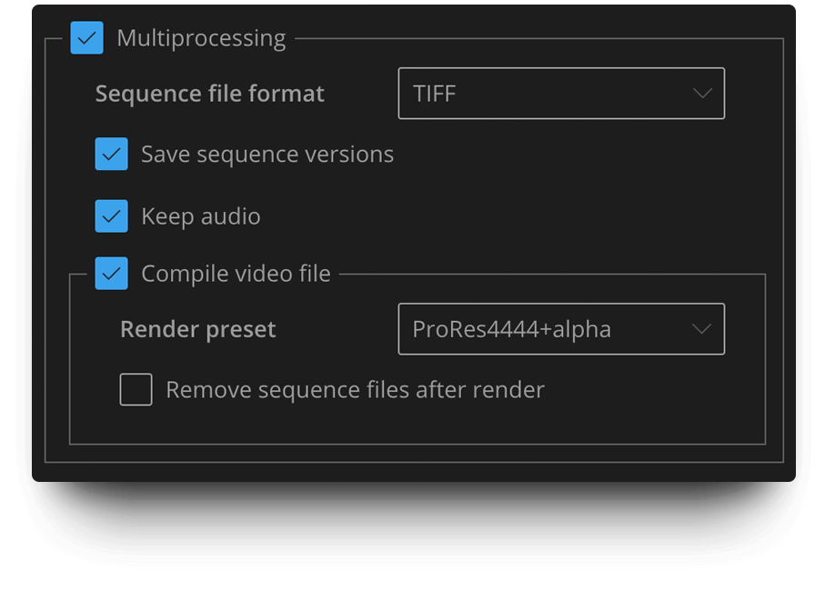 BG Renderer Max – Render Options