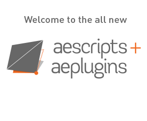 Welcome to the all new aescripts + aeplugins